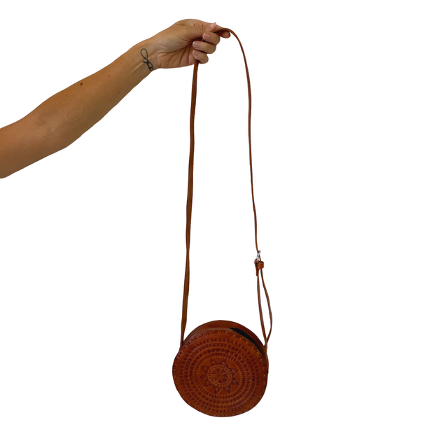 Aria Round Leather Purse - Mexico-Shop All-Lumily