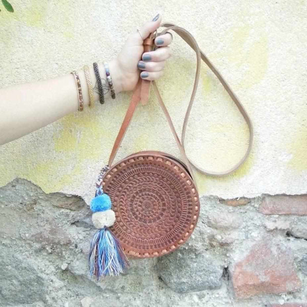 Round Leather Aria Purse - Mexico
