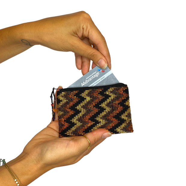 Beaded Geometric Coin Purse (Multiple Colors) - Guatemala-Shop All-Lumily