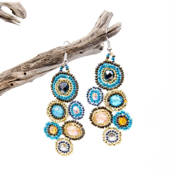 Bola Beaded Earrings - Guatemala-Shop All-Lumily Fair Trade