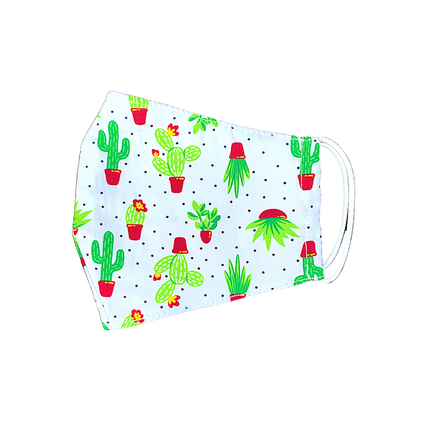 Cactus Cotton Face Mask with Filter Pocket - Thailand-Apparel-Lumily