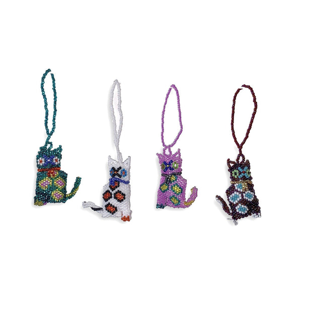 Cat Beaded Ornament - Guatemala-Shop All-Lumily Fair Trade