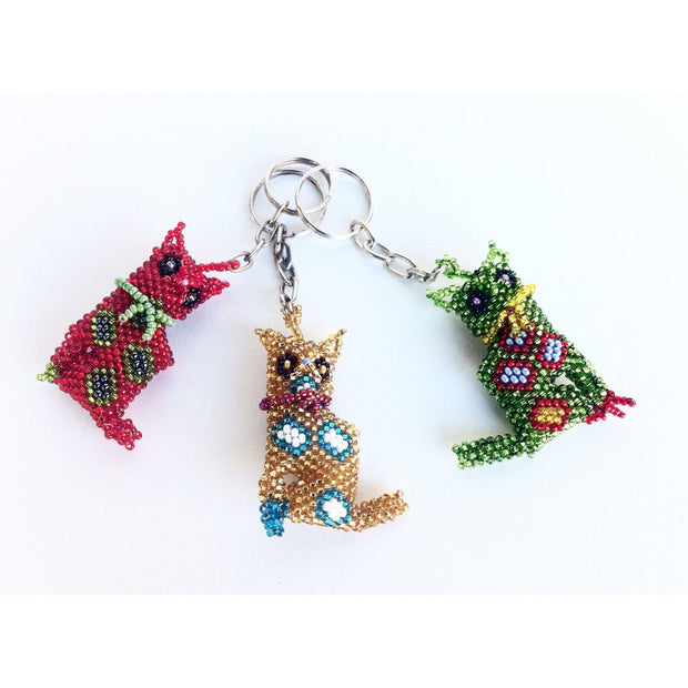 Cat Key Chain - Guatemala-Shop All-Lumily Fair Trade