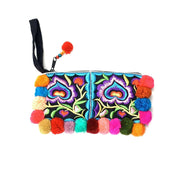 Pom Pom Wristlet (Assorted) - Thailand-Bags-Lumily Fair Trade