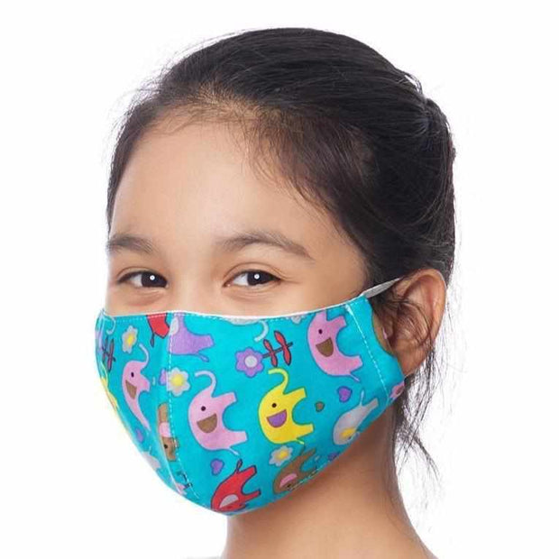 Child 5-8 Reusable Face Mask with Filter Pocket 100% Cotton - Thailand-Apparel-Lumily Fair Trade