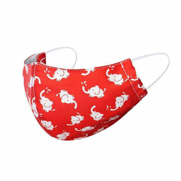 child face mask face cover adjustable reusable red elephantchild face mask face cover adjustable reusable red elephant