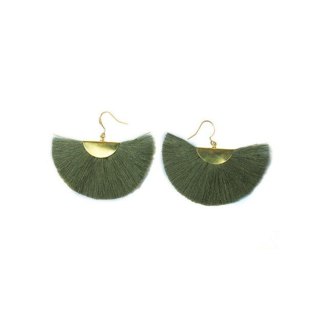 Cleo Fan Earrings - Thailand-Shop All-Lumily Fair Trade