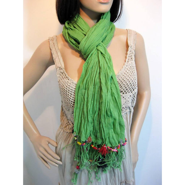Cotton Pom Pom Scarf - Thailand-Lumily Fair Trade