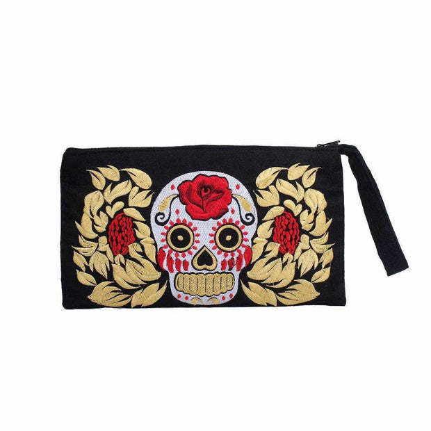 Culturas Sugar Skull Wristlet - Thailand-Shop All-Lumily