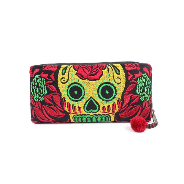 Culturas Sugar Skull Wallet - Thailand-Shop All-Lumily Fair Trade