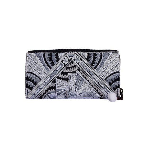 Deco Jaw Embroidered Wallet - Thailand-Bags-Lumily Fair Trade