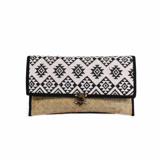 Diamond Rattan Clutch -Thailand