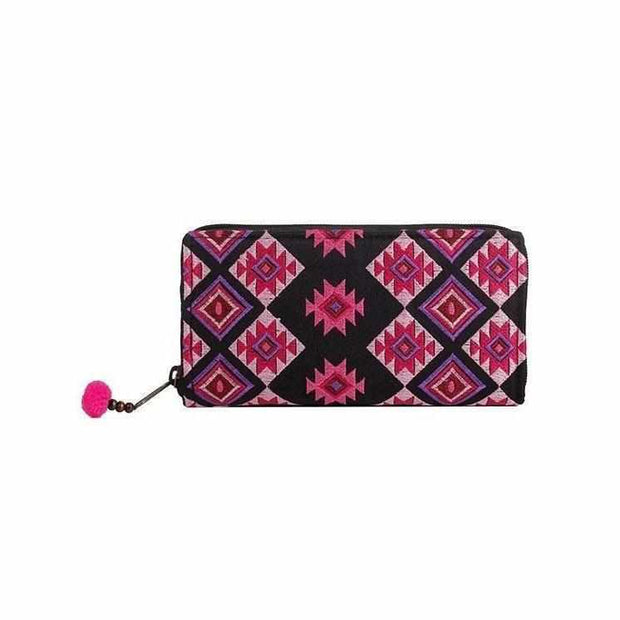 Diamond Star Embroidered Wallet - Thailand-Bags-Lumily Fair Trade