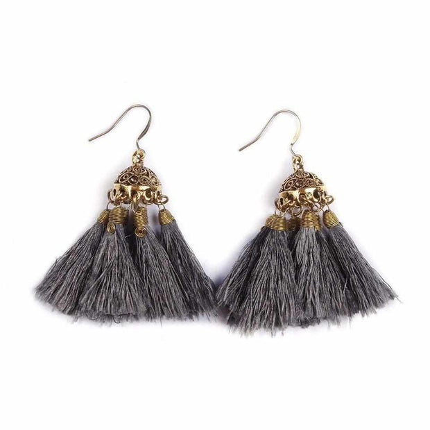 Dome Tassel Earrings - Thailand-Jewelry-Lumily Fair Trade