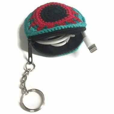Earbud Crochet Key Chain - Guatemala-Shop All-Lumily Fair Trade