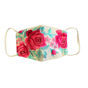 Embroidered Rose Mask with Filter Pocket - Thailand-Apparel-Lumily