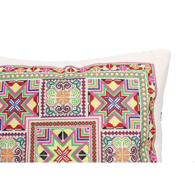 Felicity Geometric Embroidered Pillow Cover - Thailand-Shop All-Lumily Fair Trade