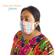 Festival Pleated Face Mask with Filter Pocket - Guatemala