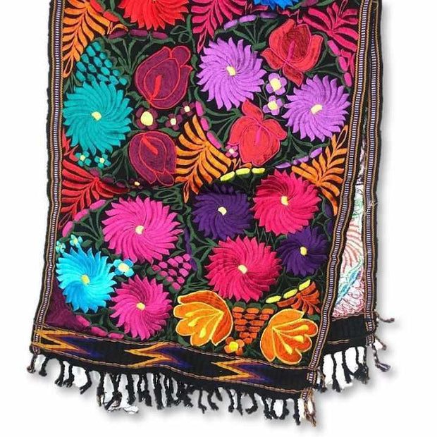 Floral Woven Table Runner - Guatemala-Decor-Lumily Fair Trade