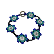 Flower Beaded Bracelet - Guatemala-Shop All-Lumily