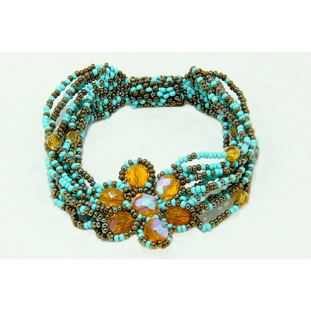 Flower Bracelet with Magnetic Closure - Guatemala-Jewelry-Lumily Fair Trade