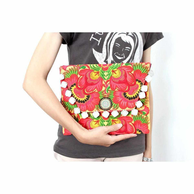 Hmong Embroidered Carnival Coin Clutch - Thailand-Bags-Lumily