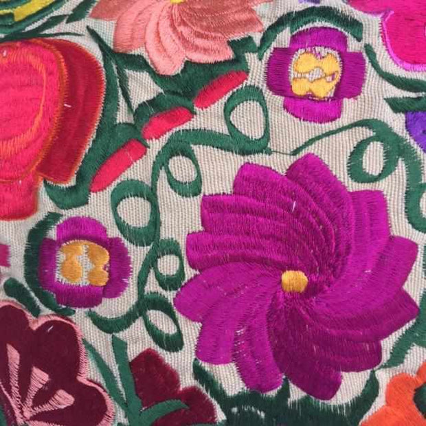 Flower Fields Embroidered Pillow Cover - Guatemala-Shop All-Lumily Fair Trade
