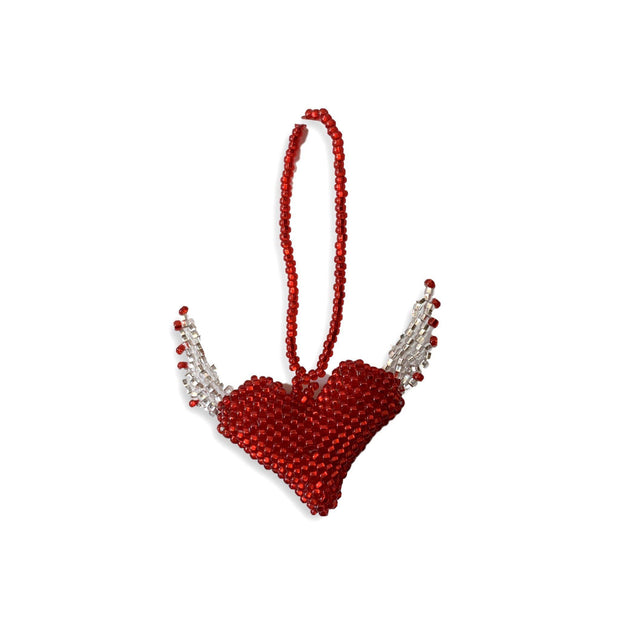 Flying Heart Beaded Ornament - Guatemala-Shop All-Lumily Fair Trade