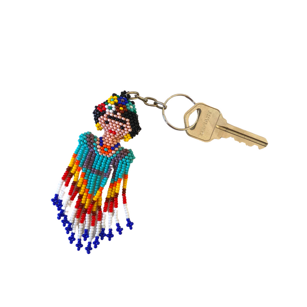 Frida Beaded Key Chain - Guatemala-Shop All-Lumily