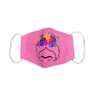 **NEW** Frida Kahlo Embroidered Face Mask with Filter Pocket - Thailand-Apparel-Lumily