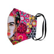 Frida Kahlo Face Mask with Filter Pocket - Thailand-Apparel-Lumily