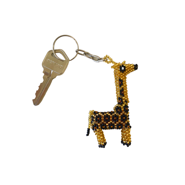 Giraffe Key Chain - Guatemala-Shop All-Lumily