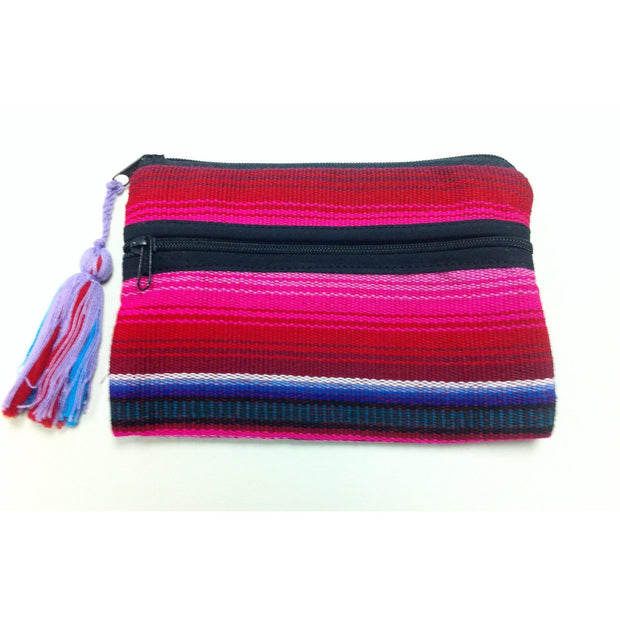 Hacienda 3 Zips Cosmetic Bag - Guatemala-Shop All-Lumily Fair Trade