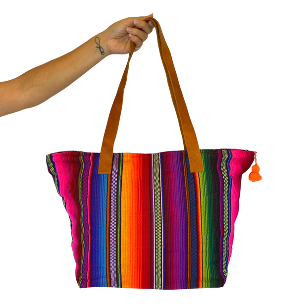 Hacienda Stripe Sustainable Tote - Guatemala-Shop All-Lumily