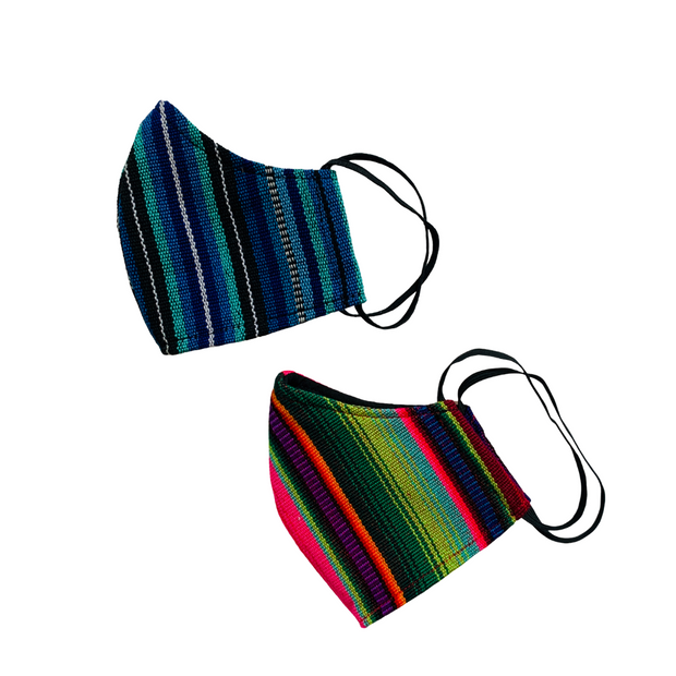 Reusable Face Mask Hacienda with Filter Pocket - Guatemala-Apparel-Lumily Fair Trade