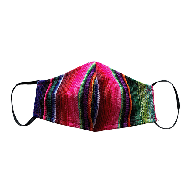 striped multicolor sarape hacienda face mask adult