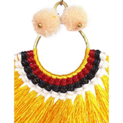 Half Moon PomPom Earrings - Thailand-Jewelry-Lumily Fair Trade
