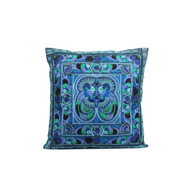Hmong Bird Embroidered Pillow Cover - Thailand-Shop All-Lumily Fair Trade