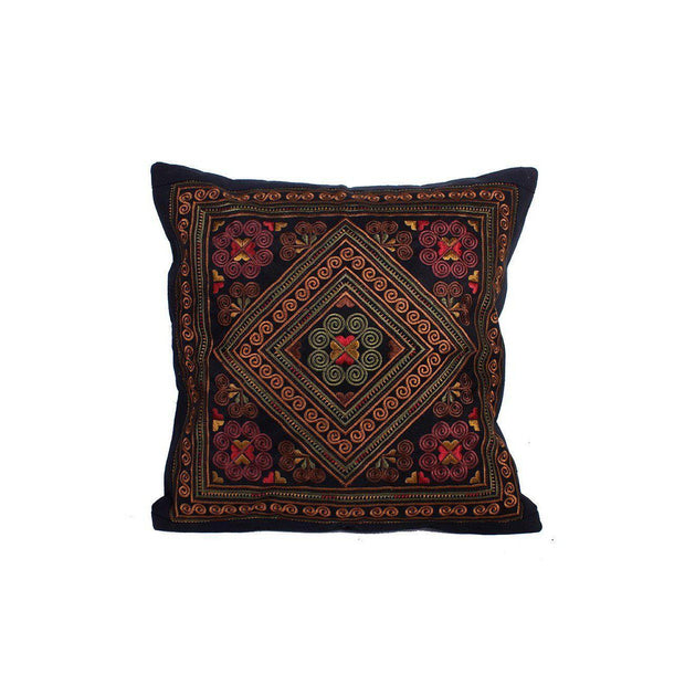 Hmong Diamond Embroidered Pillow Cover - Thailand-Shop All-Lumily Fair Trade