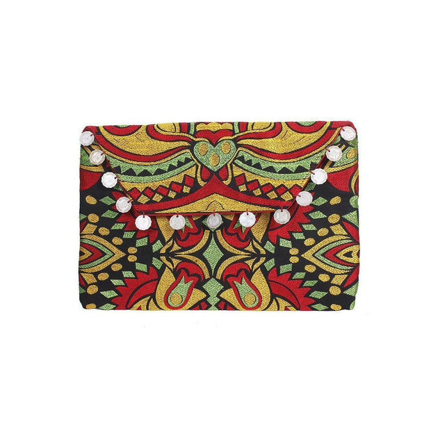 Hmong Embroidered Carnival Coin Clutch - Thailand-Bags-Lumily Fair Trade