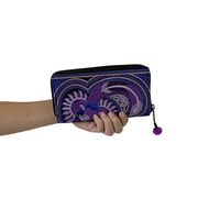 Hmong Flower Embroidered Wallet - Thailand-Shop All-Lumily