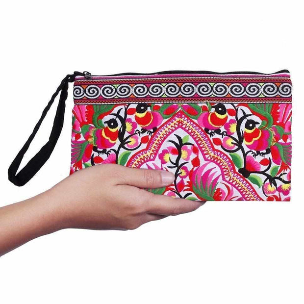 Hmong Happy Rabbit Wristlet - Thailand-Bags-Lumily