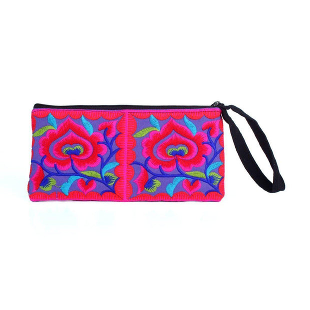 Hmong Rectangle Wristlet - Thailand-Shop All-Lumily Fair Trade