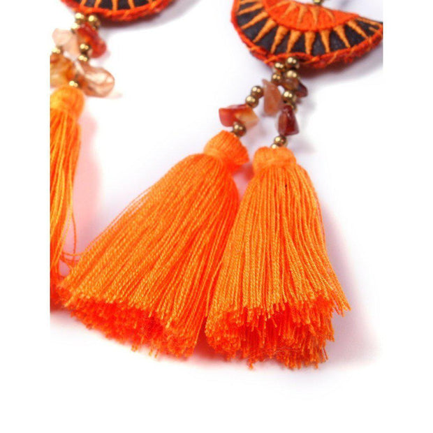 Hmong Stars Tassel Earrings - Thailand-Jewelry-Lumily Fair Trade