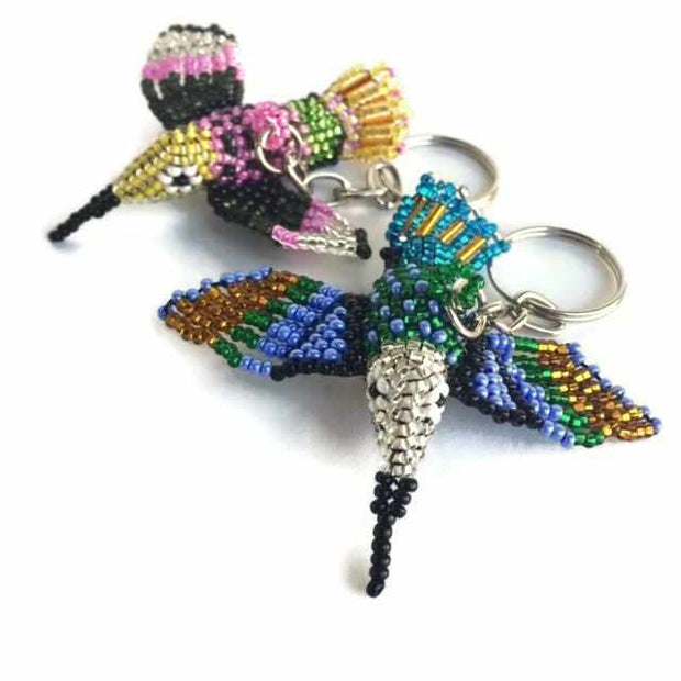 Hummingbird Beaded Key Chain - Guatemala-Shop All-Lumily Fair Trade