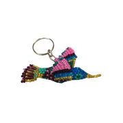 Hummingbird Beaded Key Chain - Guatemala-Shop All-Lumily