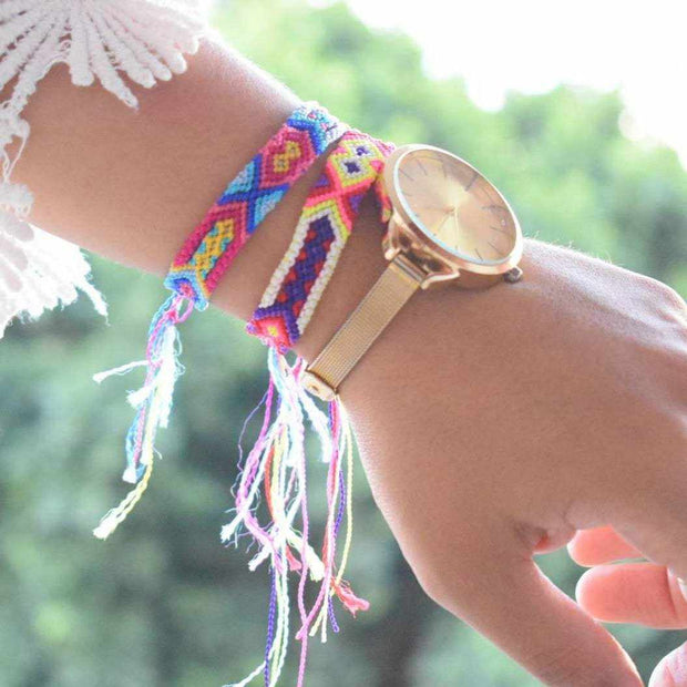 Friendship Woven String Bracelet (4 Sizes) - Mexico-Shop All-Lumily