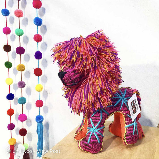 Repurposed Wool Decor Lion - Mexico-Shop All-Lumily