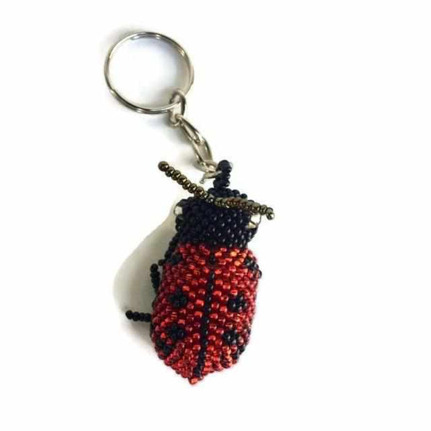 Lady Bug Key Chain - Guatemala-Shop All-Lumily Fair Trade