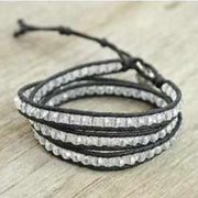 SALE Leather Three Wrap Bracelet - Thailand